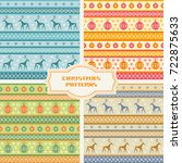 vector set of christmas... | Shutterstock .eps vector #722875633