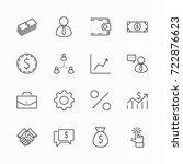 set of business vector line... | Shutterstock .eps vector #722876623