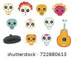 vector hand drawn illustrations ... | Shutterstock .eps vector #722880613