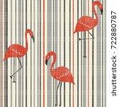 seamless vintage striped... | Shutterstock .eps vector #722880787