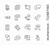 set of message vector line... | Shutterstock .eps vector #722887483