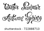 spring summer autumn winter... | Shutterstock . vector #722888713