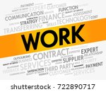 work word cloud collage ... | Shutterstock .eps vector #722890717