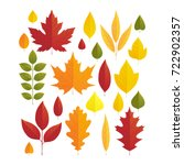 vector illustration  set of... | Shutterstock .eps vector #722902357