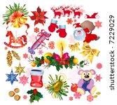 christmas set | Shutterstock .eps vector #7229029