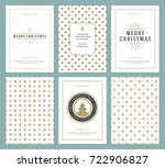 merry christmas greeting cards...   Shutterstock .eps vector #722906827