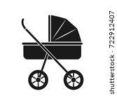 baby pram icon   Shutterstock .eps vector #722912407