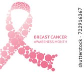pink ribbon  breast cancer... | Shutterstock .eps vector #722916367