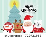 christmas with cute santa ...