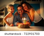 father's birthday.wife and... | Shutterstock . vector #722931703
