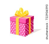gift box with ribbon and bow... | Shutterstock .eps vector #722936593