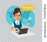 trip to world. travel to world. ... | Shutterstock .eps vector #722937823