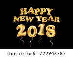 vector happy new year 2018... | Shutterstock .eps vector #722946787