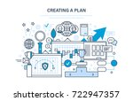 creating a plan. time... | Shutterstock . vector #722947357
