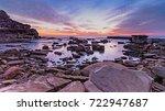 rocky sunrise seascape   the... | Shutterstock . vector #722947687