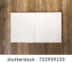 blank book or magazine cover on ... | Shutterstock . vector #722959153