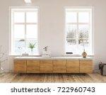 dresser in the living room  ... | Shutterstock . vector #722960743