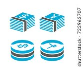 money currency icons | Shutterstock .eps vector #722963707