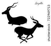 decorative gazelle graphic hand ...