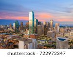 dallas  texas cityscape with... | Shutterstock . vector #722972347