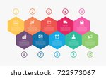 abstract business infographics... | Shutterstock .eps vector #722973067