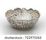 wavy engraved round shaped bowl ...   Shutterstock . vector #722975263