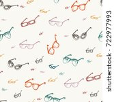 different glasses types... | Shutterstock .eps vector #722977993