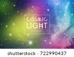 cosmic light colorful abstract... | Shutterstock .eps vector #722990437