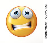 scared emoji isolated on white... | Shutterstock . vector #722992723