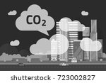 co2 emissions by big city... | Shutterstock . vector #723002827