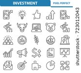 investment icons. professional  ... | Shutterstock .eps vector #723012043