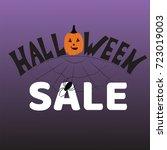 halloween sale banner. vector...   Shutterstock .eps vector #723019003