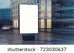 white billboard on the street... | Shutterstock . vector #723030637