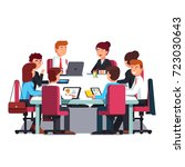 board of directors meeting at a ... | Shutterstock .eps vector #723030643