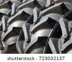 new tires for trucks | Shutterstock . vector #723032137