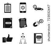 international connection icons... | Shutterstock .eps vector #723032647