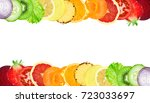 fruits and vegetables. mixed... | Shutterstock . vector #723033697