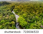 aerial view of amazon... | Shutterstock . vector #723036523
