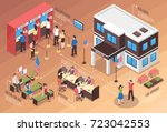 visa center composition with... | Shutterstock .eps vector #723042553
