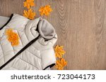 autumn clothes and maple leaves.... | Shutterstock . vector #723044173
