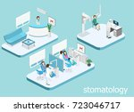 isometric 3d isolated concept... | Shutterstock .eps vector #723046717