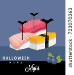 nighiri halloween menu | Shutterstock .eps vector #723070363