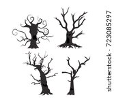 halloween trees  scary... | Shutterstock .eps vector #723085297