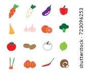 vegetable in color icons set... | Shutterstock .eps vector #723096253