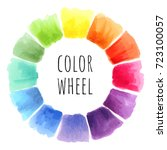 color wheel isolated watercolor