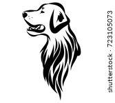 Stock vector vector image of an labrador dog 723105073