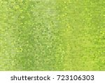 Bright Abstract Mosaic Green...