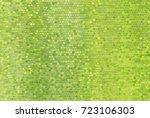 bright abstract mosaic green... | Shutterstock . vector #723106303