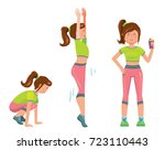 vector cartoon comic style flat ... | Shutterstock .eps vector #723110443