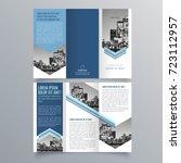 Brochure design, brochure template, creative tri-fold, trend brochure | Shutterstock vector #723112957